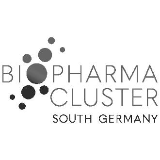 Logo Biopharma Cluster South Germany in schwarz-weiß