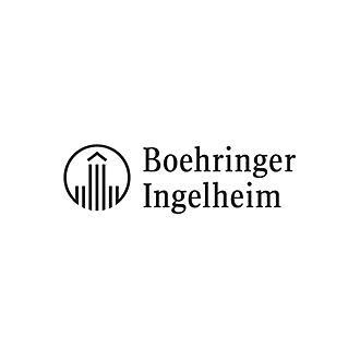 Logo Boehringer Ingelheim in schwarz-weiß